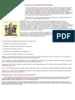 Instrumentos Musicales Origen Clasificación