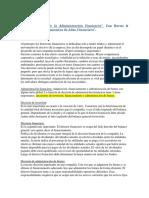 administración financiera cap 1