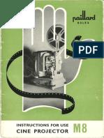 Bolex m8 Projector Manual