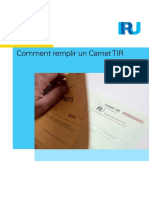 How to Fill in a TIR Carnet FR
