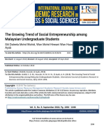 The Growing Trend of Social Entrepreneurship Among Malaysian Undergraduate Students