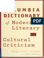 Childers, The Columbia Dictionary of Modern Literary and Cultural Criticisism