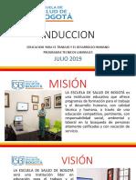 Induccion - Noche - Escuela de Salud de Bogota - Julio 2019