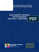 Reglamento General Posgrados 2019