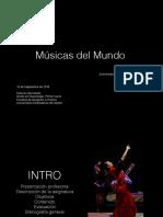 Presentación Músicas del mundo