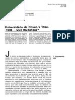 Universidade de Coimbra 1964-1985 - Que Mudanças