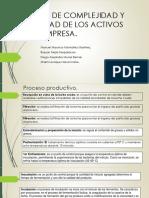 Analisis de Complejidad y Criticidad de Los Activos