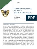 Premier Financial Services Solicitud de Información en relación al análisis de expedientes de la PPR (Retrosalarios)