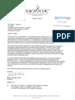 SACS letter to UofSC President Bob Caslen