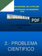 2.- Problema Cientifico