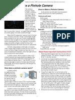 Pinhole Camera Web