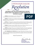 Resolution honoring Dr. Kenneth Simington