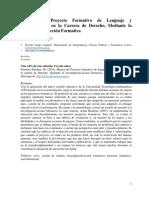 Mejora Proyecto Formativo Lenguaje y Comunicacion Socioformación