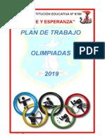 Olimpiadas 2019 Comision Deporte