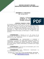 Autoriza a contratação de Enfermeiro classificado no Concurso Público nº. 001/2018, para a Secretaria Municipal