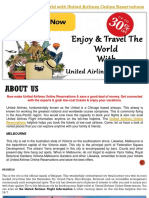 Get Cheap Air Tickets & Enjoy Your Travel at United Airlines Reservations