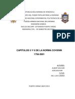 Capitulos 5 y 6 Norma Covenin 1756-2001