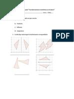 Guía Evaluada Transformaciones Isométricas