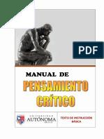 El Manual Del Pensamiento Critico Ccesa007