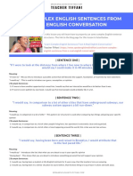 LEARN COMPLEX ENGLISH SENTENCES FROM A REAL ENGLISH CONVERSATION