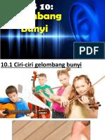 10 GELOMBANG BUNYI