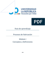 RUTA MÓDULO I PROCESOS DE FABRICACIÓN