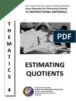 21. Estimating Quotients