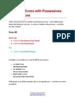 Lesson 04 - Errors with Possessives and Pronouns.pdf