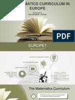 The Curriculum in Europe