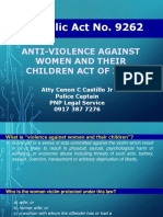 RA 9262 Anti Violence Against Woment And