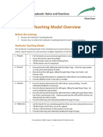 Playbook - Training Materials - Starbucks Teaching Model - Overview