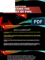 Corruption Affecting the Economy of PNG- Group 11