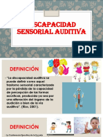 Discapacidad Sensorial Auditiva