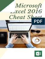 Excel 2016 Cheat Sheet
