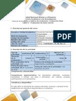 Guía de Actividades y Rúbrica de Evaluación Taller 6. Evaluación de Texto Escrito (1)