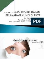 Identifikasi Resiko Dalam Pelayanan Klinis Di Fktp