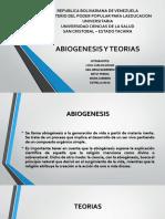 Abiogenesis y Teorias