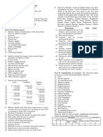 Lab Posttest 1 - The Accounting Equation and the Double Entry System