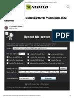 Recent File Seeker_ Detecta Archivos Modificados en Tu Sistema - NeoTeo