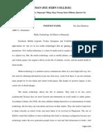 Position Paper e App