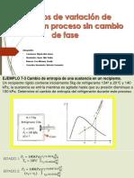 Cálculos de Variación de Entalpía en Proceso Sin