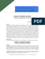 Ensinar e Aprender Geografia Pautas Contemporâneas Em Debate p. 143-157