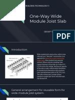 one way wide module joist slab