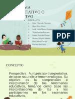 Paradigma Interpretativo o Cualitativo
