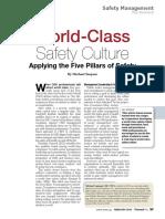 M. Saujani Applying 5 Pillars World Class Safety Culture