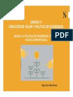 PPT Sesión 14- Política de Dividendos, Forma de Pago e Importancia