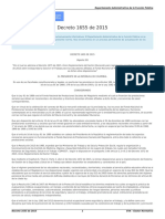 Decreto 1655 de 2015