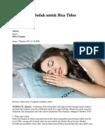 5 Langkah Mudah Untuk Bisa Tidur Nyenyak