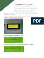 TeleDecoder MFY Instructiuni de Utilizare