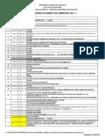 Calendario académico 2019-1 UCV